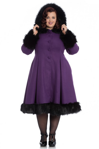 8057 Elvira Coat, purple, plus size