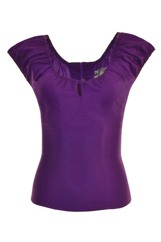 6505 HELL BUNNY MELISSA TOP, PUR