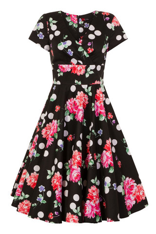 4789 HELL BUNNY COLLARETTE 50´S DRESS