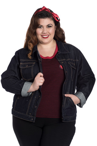 8075 INDIANA DENIM JACKET, plus size