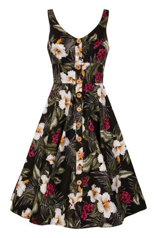 4677 HELL BUNNY TAHITI 50S DRESS, BLACK