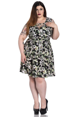 4809 Peepers Mini Dress, plus size