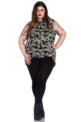 6634 Peepers Blouse, plus size
