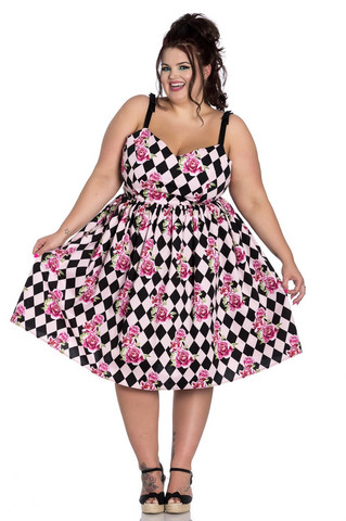 4805 Harlequin 50´s dress, plus size