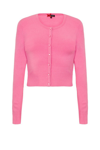 6349 HELL BUNNY PALOMA CARDIGAN, CANDY PINK