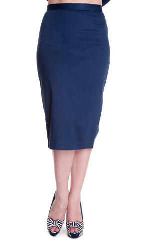5274 Pencil skirt, nvy, KOOT M