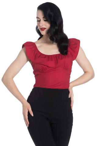 6629 HELL BUNNY RIO TOP, RED