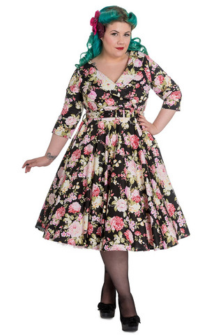 4377 Black Dahlia 50´s dress, plus size