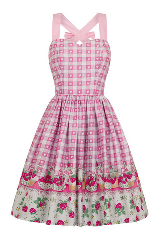 4822 Strawberry Shortcake dress, plus size