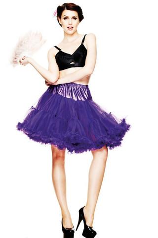 5028 HELL BUNNY Petticoat short, pur