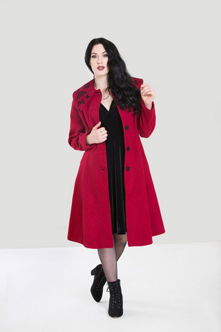 8079 Hermione Coat, red