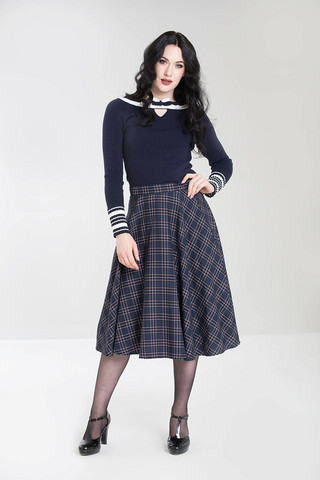 5451 Peebles 50´s skirt, nvy