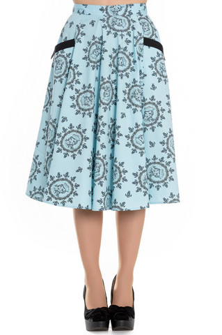 5427 HELL BUNNY SAILOR GIRL 50´S SKIRT