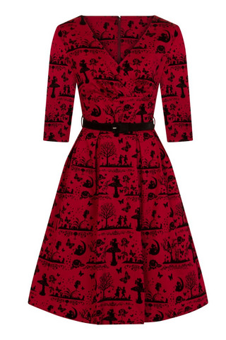 4851 HELL BUNNY ANDERSON 50´S DRESS, RED