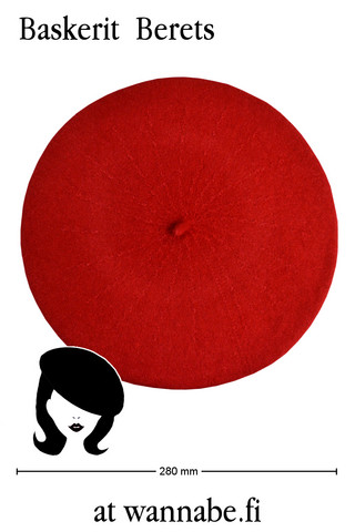Beret, red
