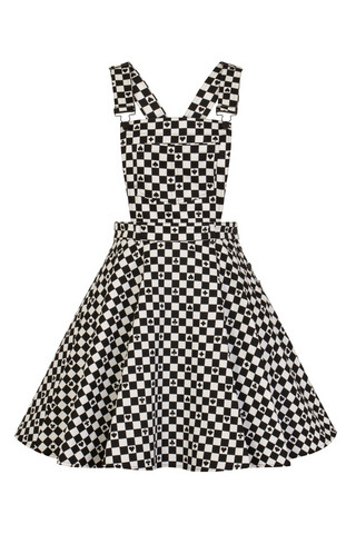 4875 POKERFACE PINAFORE DRESS