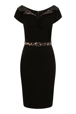 4880 HELL BUNNY FELINE PENCIL DRESS