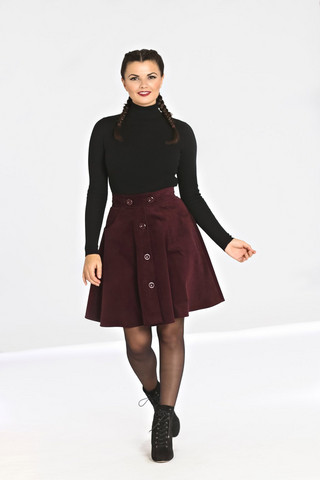 HLB50004 WONDER YEARS MINI SKIRT, WINE