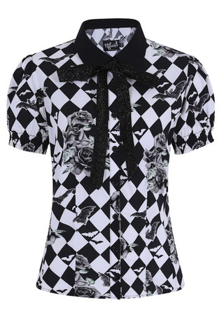 60002 HELL BUNNY HAUNTLEY BLOUSE