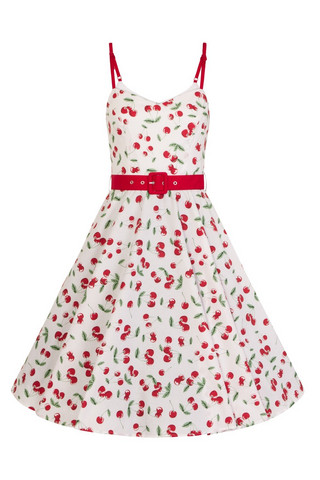 4869 SWEETIE 50`S DRESS, WHT