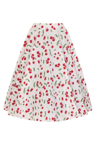 5529 HELL BUNNY SWEETIE 50`S SKIRT, WHT
