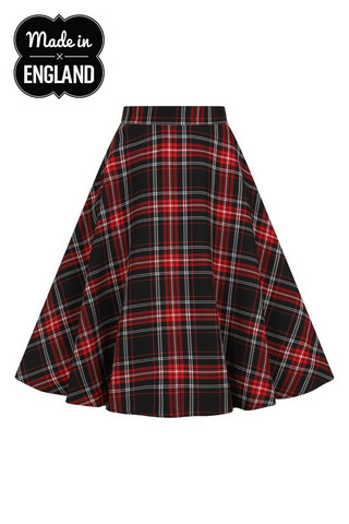 50039 HELL BUNNY ISLAY 50´S SKIRT,  blk/red