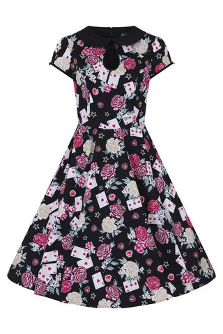 HLB40020  QUEEN OF HEART 50´S DRESS