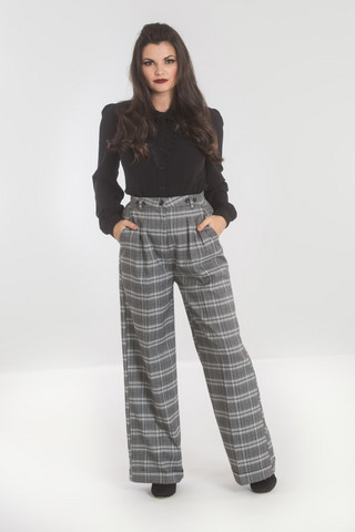 HLB50007 HELL BUNNY FROSTINE SWING TROUSERS