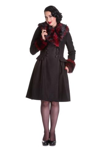 8055 HELL BUNNY ROCK NOIR COAT, RED