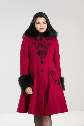 8082 HELL BUNNY ANDERSON COAT, RED