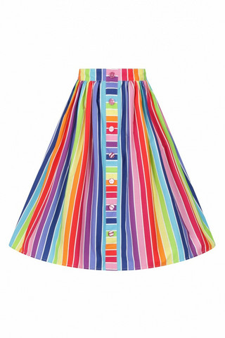 50031 HELL BUNNY OVER THE RAINBOW 50´S SKIRT