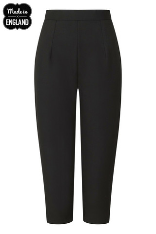 50061 HELL BUNNY AMELIE CIGARETTE TROUSERS, BLACK