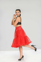5486 HELL BUNNY POLLY PETTICOAT, red