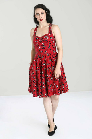 40056 HELL BUNNY ALISON MID DRESS