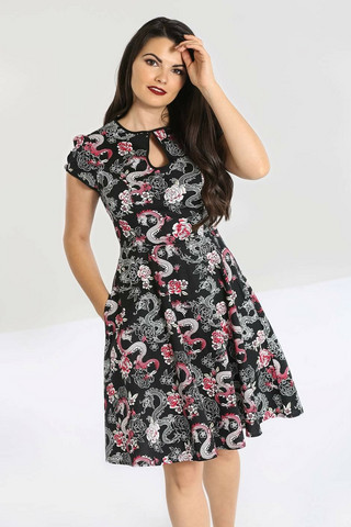 40076 HELL BUNNY MUSHU MID DRESS