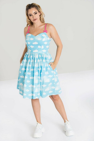 40077 HELL BUNNY DAYDREAM MID DRESS - PLUS SIZES AVAILABLE IN MAY