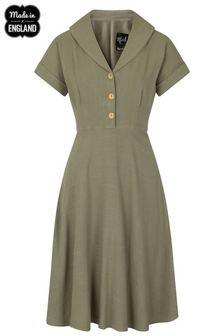 40043 HELL BUNNY SAHARA 50´S DRESS, KHAKI