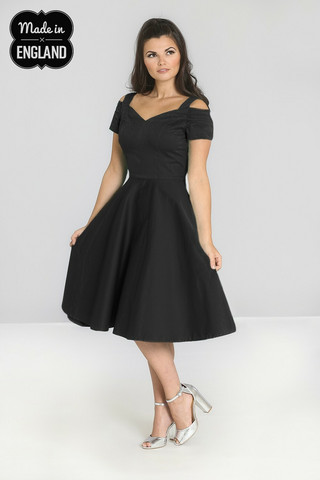 40049 HELL BUNNY HELEN DRESS, BLACK