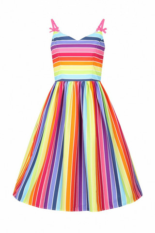 40059 HELL BUNNY OVER THE RAINBOW DRESS