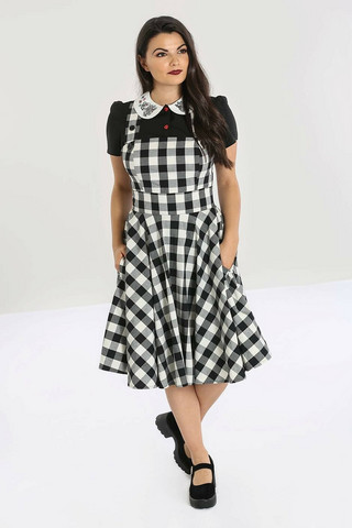 40087 HELL BUNNY VICTORINE PINAFORE DRESS