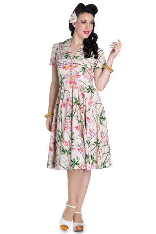 4587 HELL BUNNY PARADISE 50´S DRESS, XS