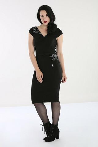 40100 HELL BUNNY MISS MUFFET PENCIL DRESS