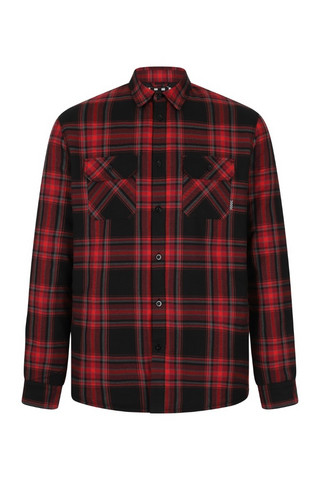 60012 CHET ROCK FLANNEL CHECKED OVERSHIRT, RED