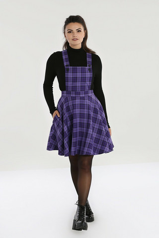 40152 HELL BUNNY KENNEDY PINAFORE  DRESS