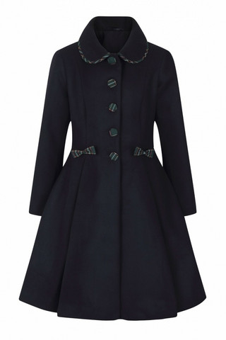 80013 HELL BUNNY TIDDLYWINKS COAT, NVY