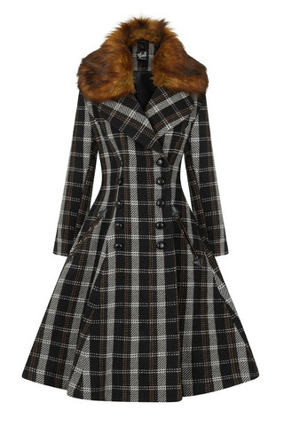 80009 HELL BUNNY BROOKLYN COAT
