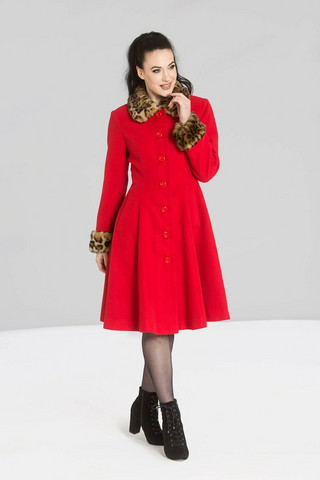 80005 HELL BUNNY ROBINSON COAT, RED