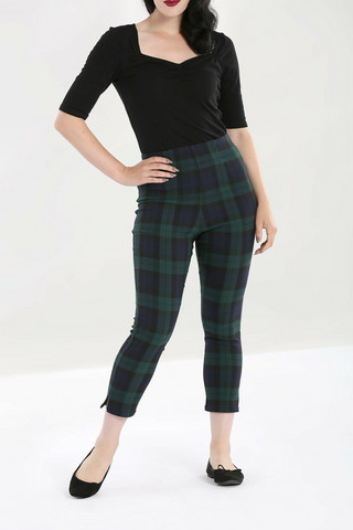 50082 HELL BUNNY EVELYN CIGARETTE TROUSERS