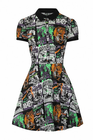 40150HELL BUNNY BE AFRAID MINI DRESS