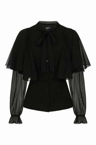 60068 HELL BUNNY ISABELLE BLOUSE